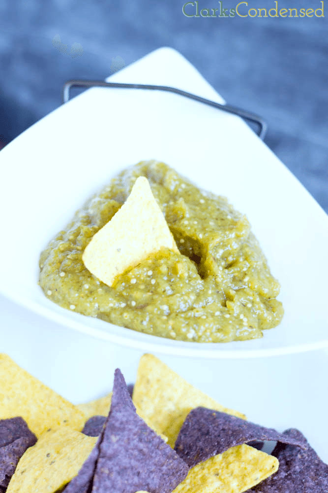 Sweet and Spicy Roasted Tomatillo Salsa