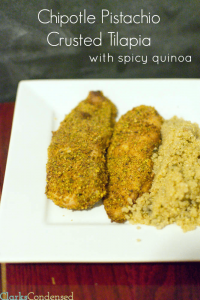 Chipotle Pistachio Crusted Tilapia (WW Points Plus Recipe)