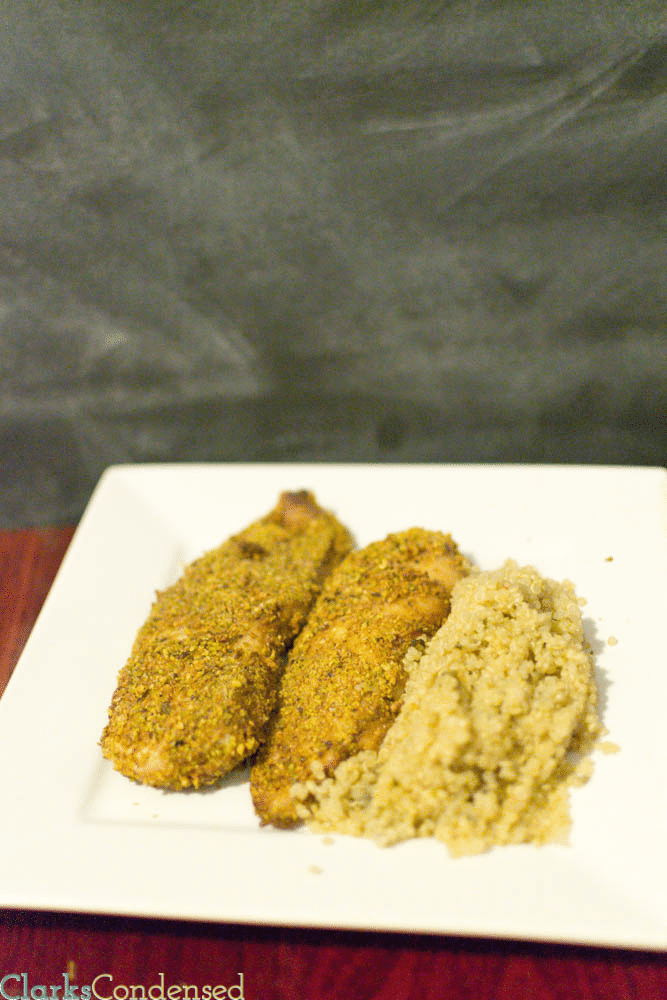 Chipotle Pistachio Crusted Tilapia (only four weight watchers points plus points)