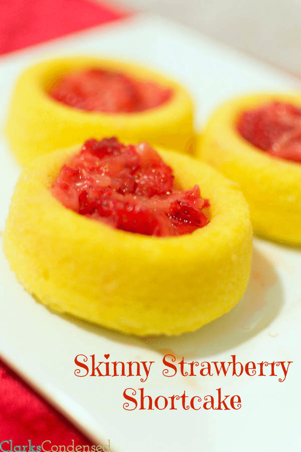 Skinny Strawberry Shortcake Cups