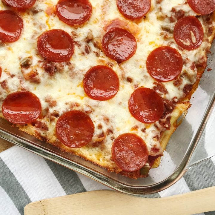 Sausage and Pepperoni Pizza Casserole Recipe