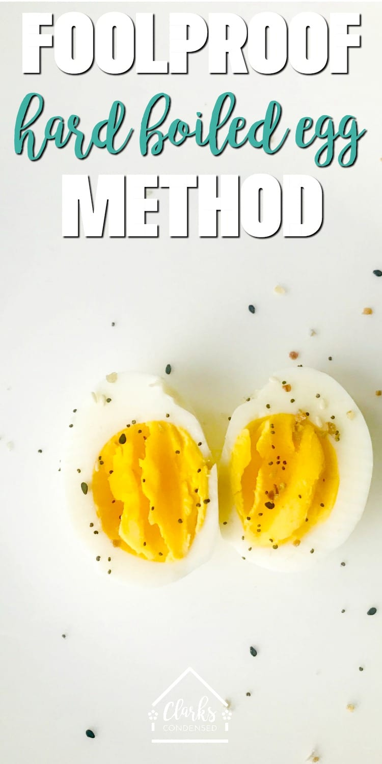 The Best Foolproof Hard Boiled Egg Method / hard boiled eggs / how to hard-boil eggs / hard-boiled eggs / non instant pot hard boiled eggs via @clarkscondensed