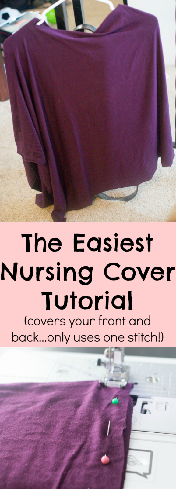 nursing cover / diy nursing cover / easy nursing cover / easy diy nursing cover / breastfeeding cover / poncho nursing cover