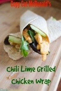 Copy Cat McDonald's Sweet Chili Lime McWrap
