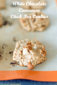 White Chocolate Chick Pea Cookies and Natural Probiotics for Good Health