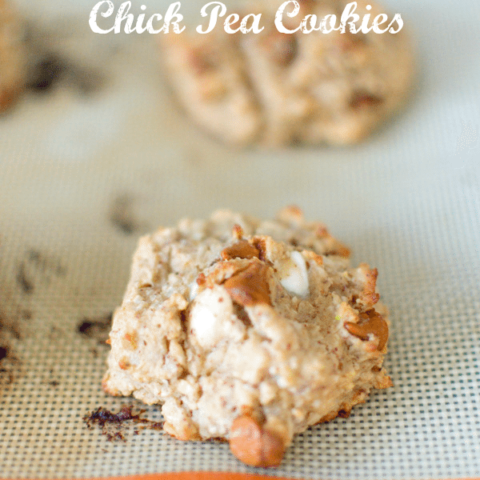 White Chocolate Cinnamon Chick Pea Cookies