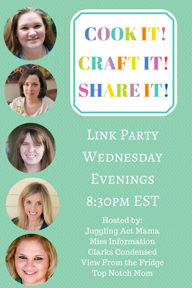Cook it! Craft it! Share it! Link Party #7