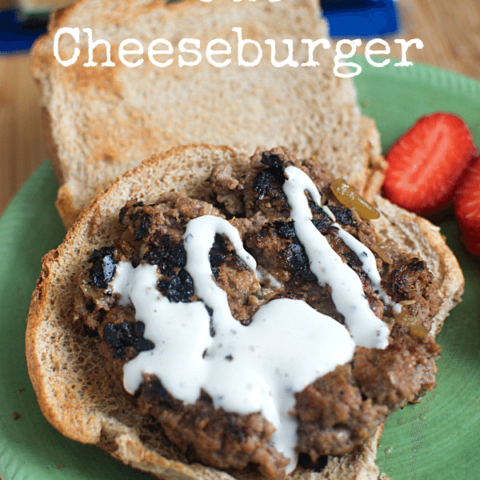 Green Chile Inside Out Cheeseburger (and how to grill a burger inside!)