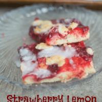 Strawberry Lemon Crumb Bars