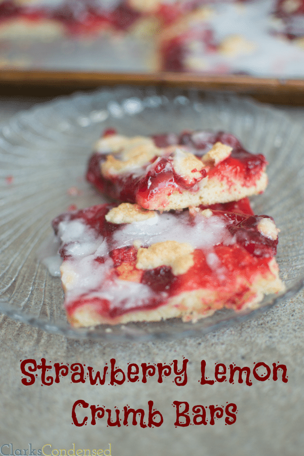 These strawberry lemon crumb bars have a naturally lemon flavored ...