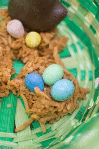Coconut and Butterscotch Bird's Nest Recipe {{Dessert and Activity Idea}}
