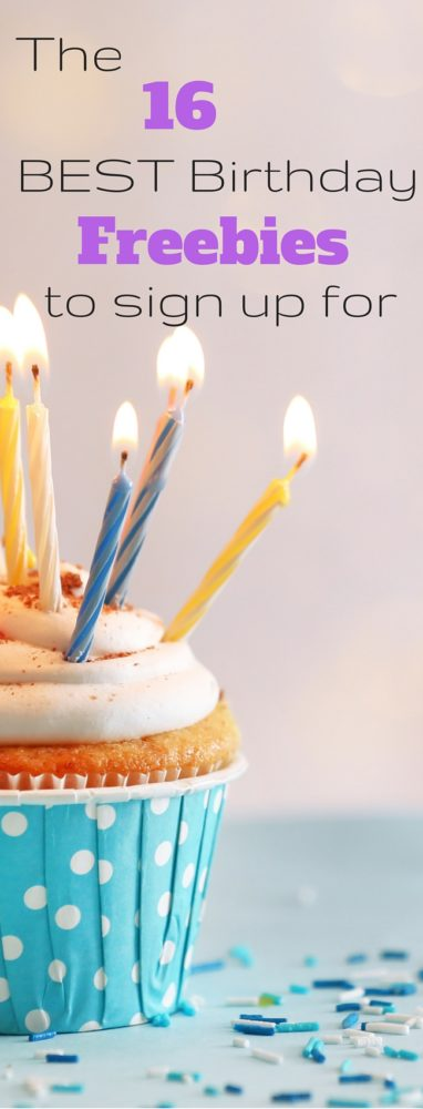 The BEST birthday freebies to sign up for - lots of free food with no purchase necessary! via @clarkscondensed