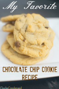 My Favorite Chocolate Chip Cookie Recipe (and Giveaway!)