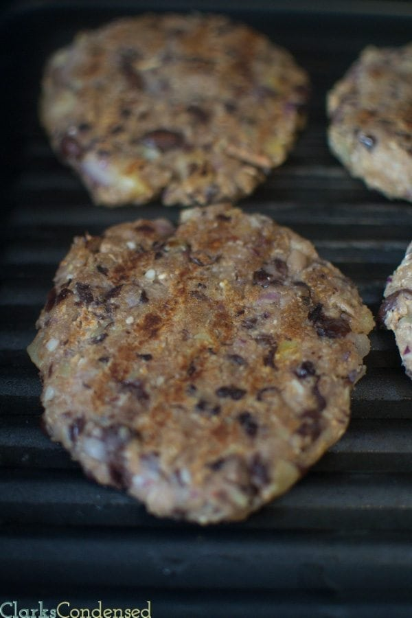 A spicy and delicious black bean and sweet potato burger