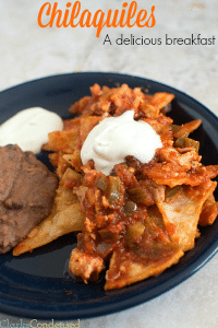 Chilaquiles with Shredded Chicken
