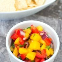 Honey Lime Mango Salsa (And How to Cut a Mango)