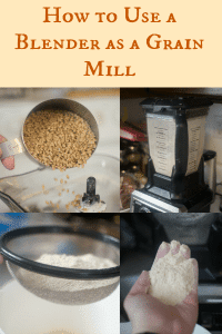 How To Use a Blender as a Grain Mill