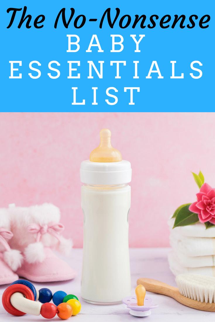 The No-Nonsense Baby Essentials List #baby #newborn #newbaby #newmom #newdad