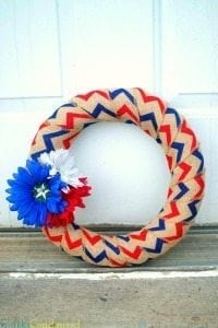 Easy Burlap Fourth of July Wreath {{Five Minutes}}