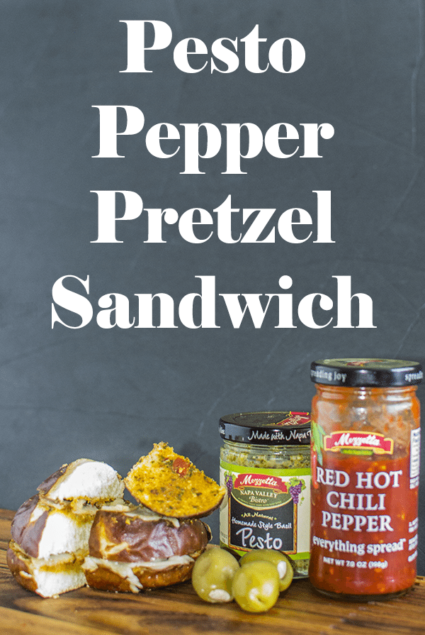 Pesto Pepper Pretzel Sandwich: A fun and unique sandwich to shake up your regular routine!