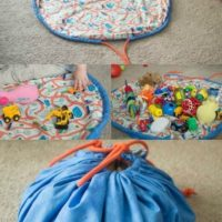 Easy DIY Drawstring Bag for Toys