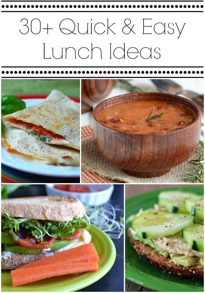30 quick easy lunch ideas via