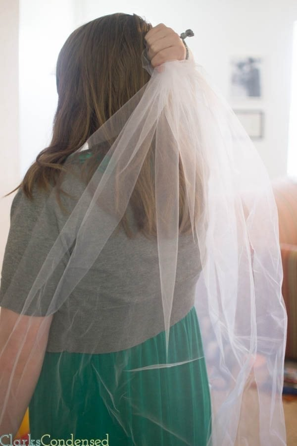 Simple DIY Wedding Veil