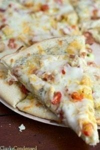 Copy Cat Papa Murphy's Garlic Chicken Pizza & Homemade Ranch Dressing