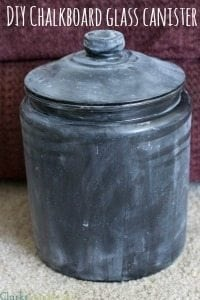 DIY Chalkboard Glass Container & Homemade Laundry Detergent