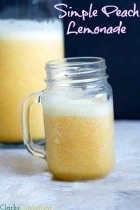 Easy Peach Lemonade