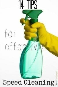 14 Tips for Effective Speed Cleaning