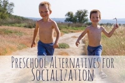 Traditional Preschools are important for social skills, but here are some DIY preschool alternatives that will still have your child interacting with plenty of kids his age and won't cost you anything.