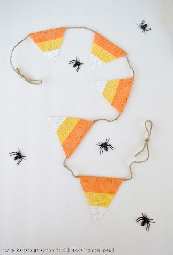 Candy Corn Burlap Garland Tutorial