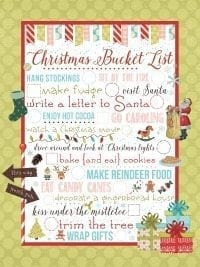 Christmas Printable Bucket List