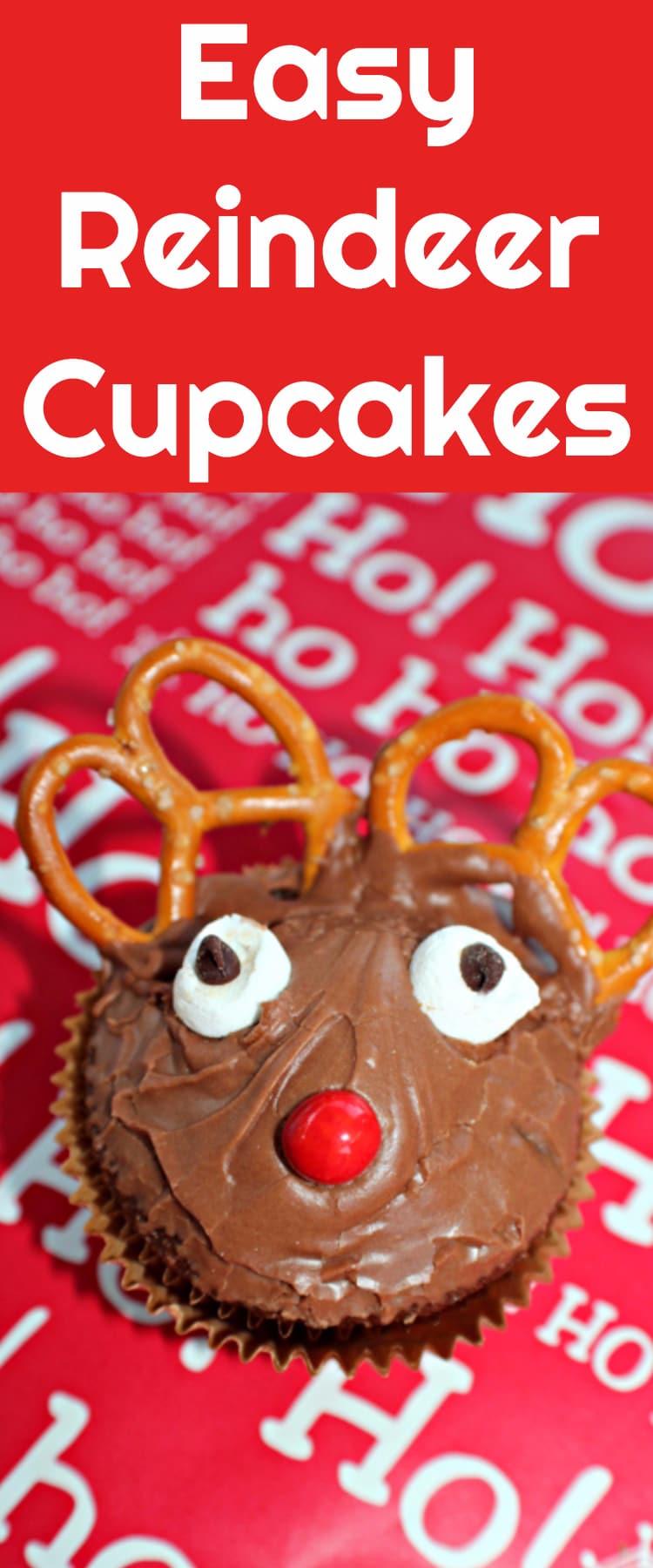 Reindeer Cupcakes / Reindeer Cupcakes / Christmas Class room party / Christmas Dessert / Easy Christmas Cupcakes #Cupcakes #Cupcake #Christmas