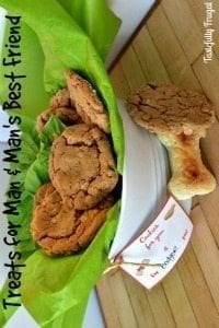 Peanut Butter Oatmeal Cookies and Dog Biscuit Recipe
