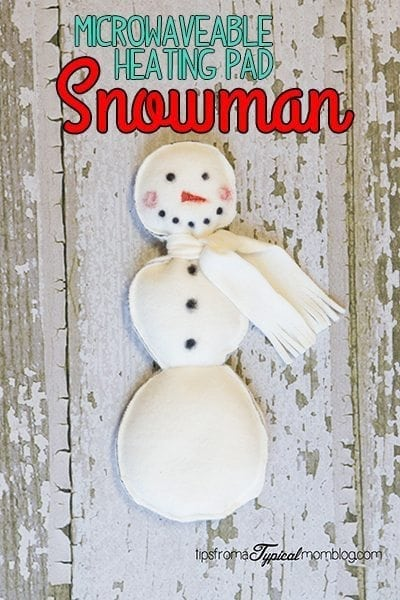 Microwaveable-Snowman-Heating-Pad