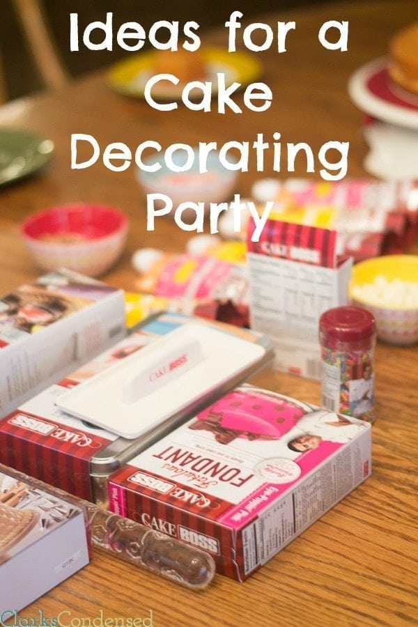 Cake Decorating Party Ideas
