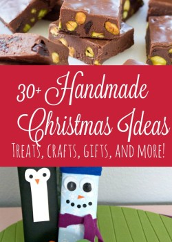 30+ Handmade Christmas Ideas - these are so fun and easy!