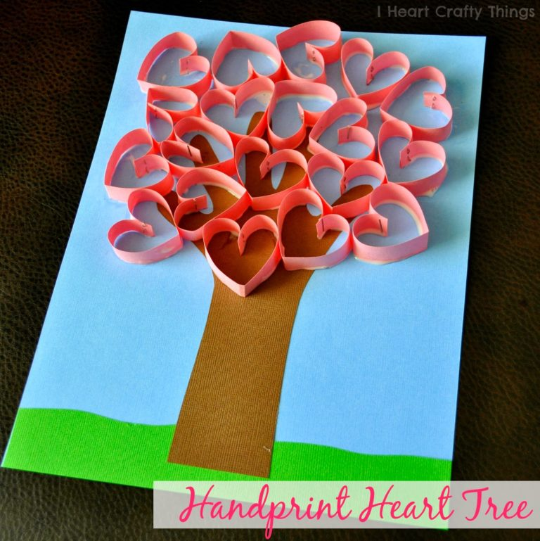 handprint heart craft 30 diy s day ideas for 2152