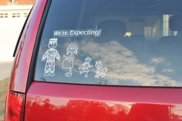 Pregnancy Announcement - Car family stickers