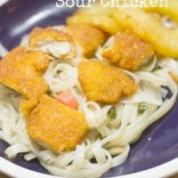 Easy Sweet and Sour Chicken with Asian Noodles
