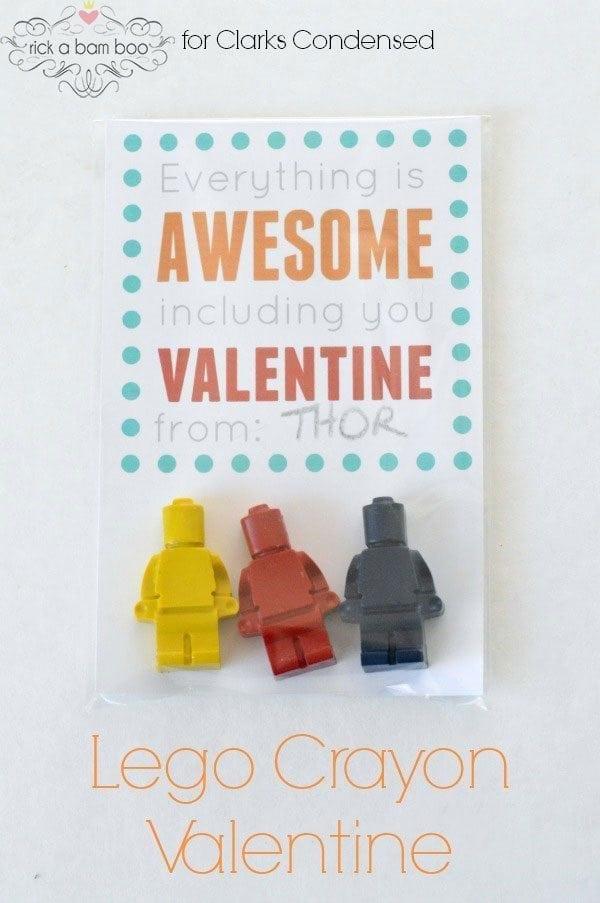 Lego Crayons Valentine