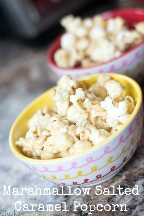 This marshmallow salted caramel popcorn will disappear faster than it took to make it (which isn't very long.) It has a perfect balance of sweetness and saltiness, and it's perfect for movie night.
