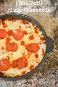 One Pot Pizza Pasta Casserole