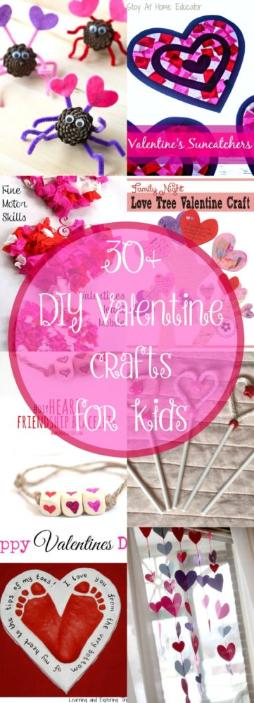 30+ Easy DIY Valentine Craft Ideas for Kids - these would be so fun for classroom Valentine's Day parties!