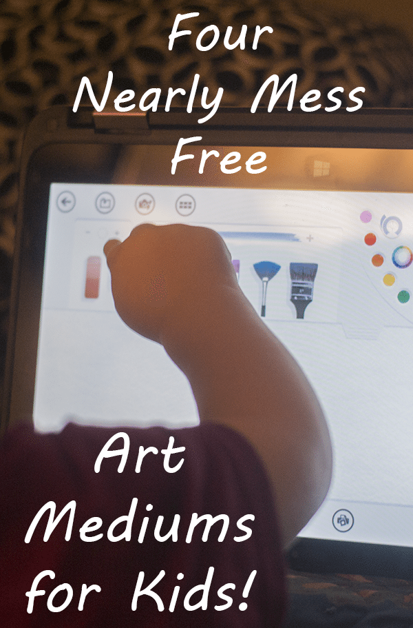 Four Nearly Mess Free Art Mediums for Kids