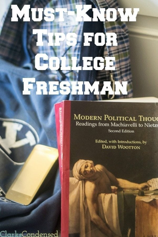 College Freshman Tips / Tips for College Freshman