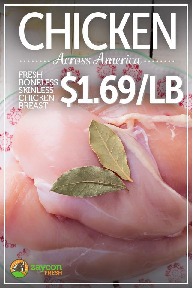 Weekly Deal: 1.69 All-Natural Chicken!