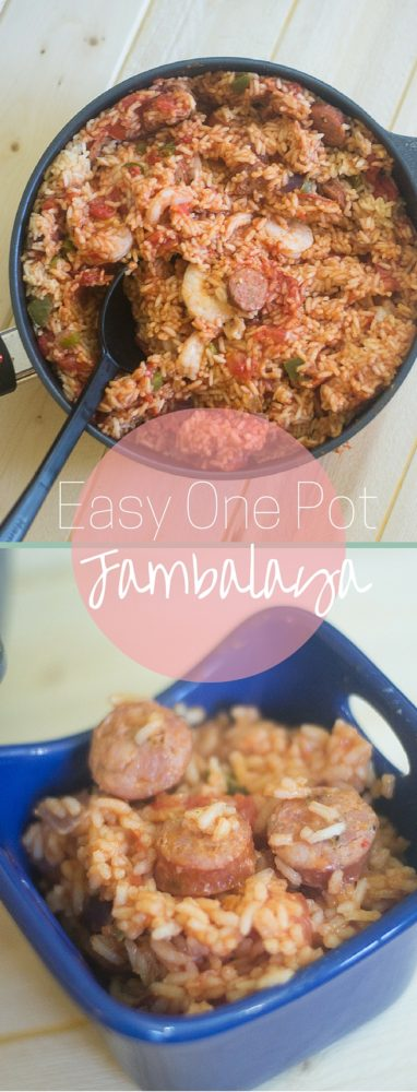 An amazing and easy one pot jambalaya recipe via @clarkscondensed